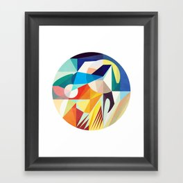 Around The Circle Framed Art Print