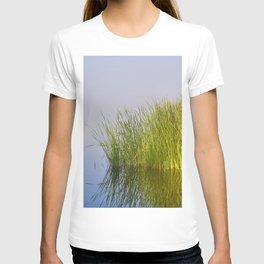Zen lagoon. Foggy lovely sunrise.  T-shirt