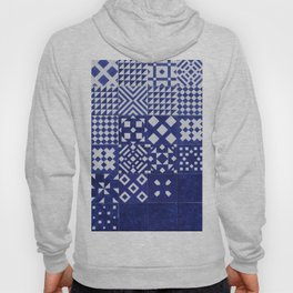 tile blue background Hoody