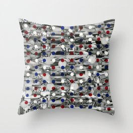 3G Mixed Reality Free Space  (P/D3 Glitch Collage Studies) Throw Pillow