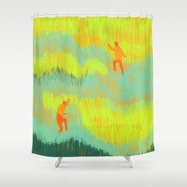 Through the Fields Shower Curtain