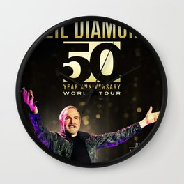 NEIL DIAMOND 50TH ANNIVERSARY WORLD TOUR DATES 2019 KAMBOJA Wall Clock