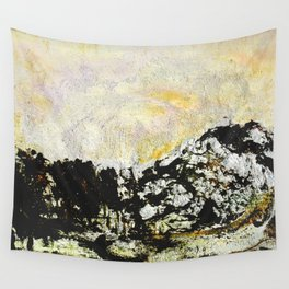 Golden mountains Wall Tapestry