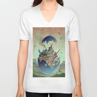 imagination V-neck T-shirts featuring Imagination  by dreamshade