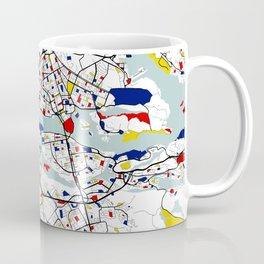 Stockholm City Map of Sweden - Mondrian Coffee Mug