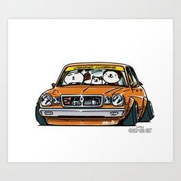 Crazy Car Art 0146 Art Print