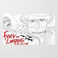 fear and loathing Area & Throw Rugs featuring Fear&Loathing by TheFrizzKid