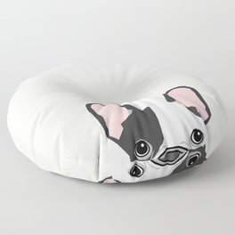 French Bulldog peeking cute black and white frenchie must have dog mom pet lover gifts Floor Pillow