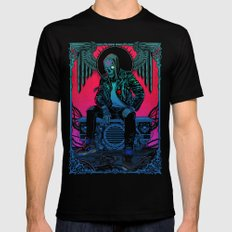 The Ghost of Dead Motor City Black MEDIUM Mens Fitted Tee