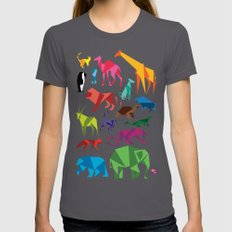 Paper Animals Asphalt LARGE Womens Fitted Tee