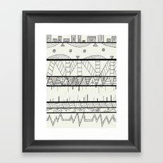 Pentastic Pattern Framed Art Print