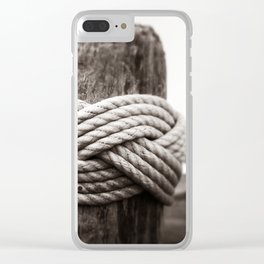 In Knots Clear iPhone Case