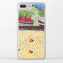 Bocce at Lerida Clear iPhone Case