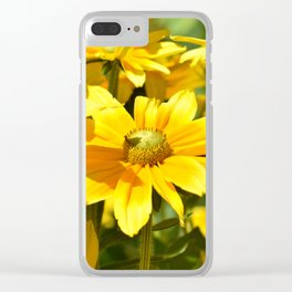 Yellow flowers 042 Clear iPhone Case