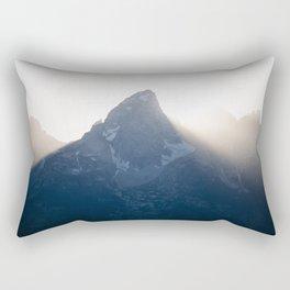 grand teton mountains sunset Rectangular Pillow