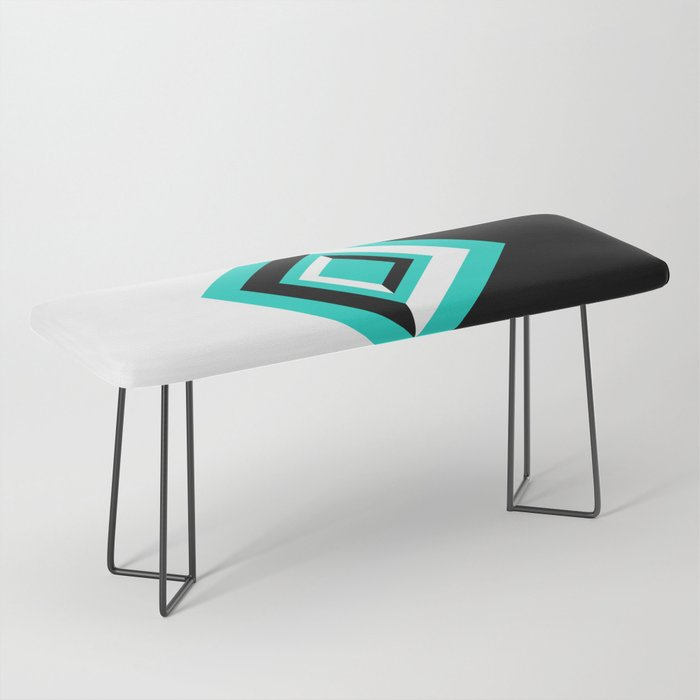 Teal Black and White Diamond Shapes Digital Illustration - Artwork Bench