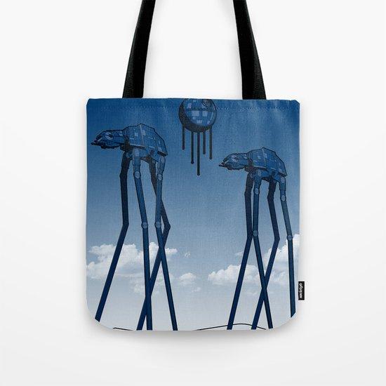 Dali's Mechanical Elephants - Blue Sky Tote Bag