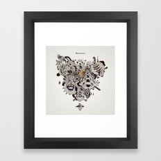 Drawing Collage #01 Framed Art Print