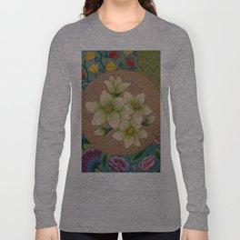 Jasmine Flower  Mandala  Long Sleeve T-shirt