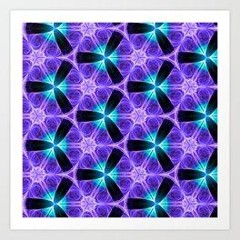 Chainlink Pattern (purple) Art Print
