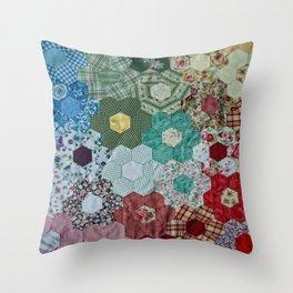 patchwork-design Throw Pillow