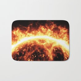 Sun surface with solar flares Bath Mat