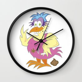 Crackers' Therapy Chicken Wall Clock
