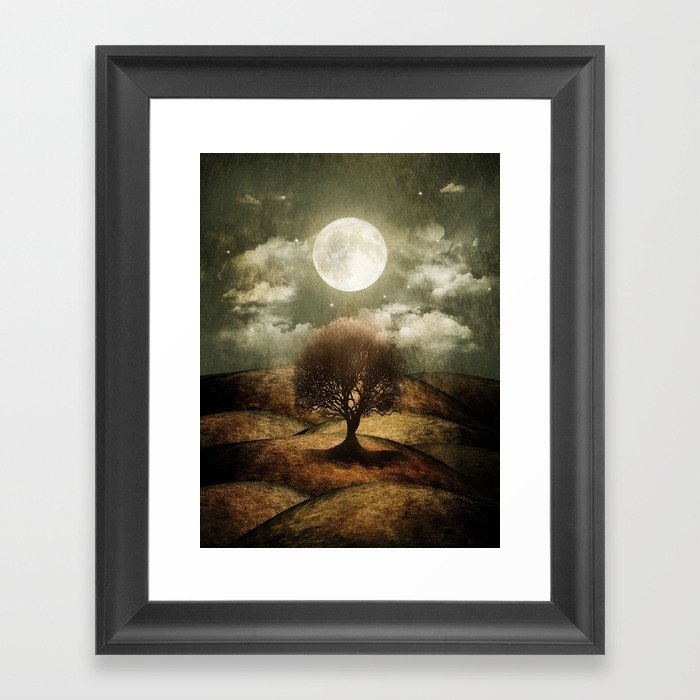 Once upon a time... The lone tree. Framed Art Print