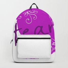Purple Heart Flower Backpack