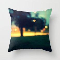 an evening in june Throw Pillow