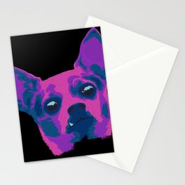 chihuahua - blk Stationery Cards