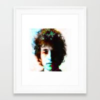 bob dylan Framed Art Prints featuring bob dylan by manish mansinh