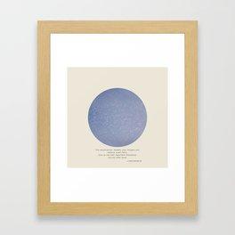 The Talk Framed Art Print