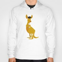 college Hoodies featuring College Kangaroo by ericbennettart