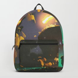 Fantasy Illustration Graphic Design Anime Japanese Inspired World Meteor Passing In Glowing Sky Backpack