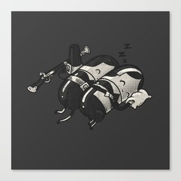 Sleeping Pillgrims Canvas Print