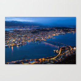 Panoramic Tromso Canvas Print