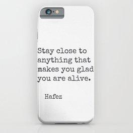 Hafez quote 30 iPhone Case
