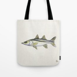 """Snook"" by Amber Marine - Centropomus undecimalis ~ Watercolor Illustration, (Copyright 2013) Tote Bag"