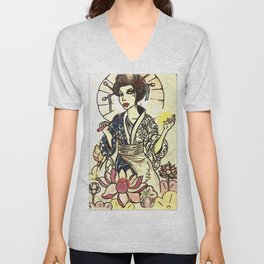 Geisha of Life  Unisex V-Neck