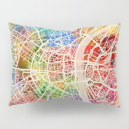 Cologne Germany City Map Pillow Sham