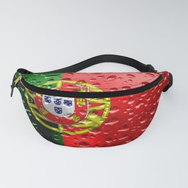 Flag of Portugal - Raindrops Fanny Pack