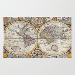 Vintage world map Rug