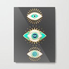 Evil eye times 3 Metal Print