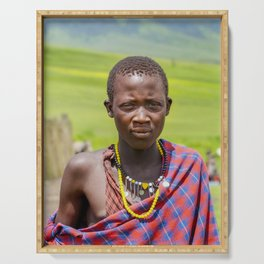 Portrait 4300 Young Maasai Serving Tray