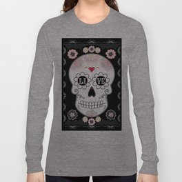 Sugar Skull Papel Picado - Day of the dead Long Sleeve T-shirt