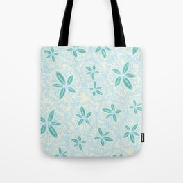 Sea Blue Lily Flower Tote Bag