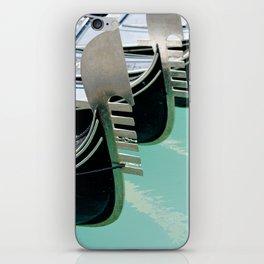 Venetian gondolas, perspective row arrangement, nose front decoration iPhone Skin