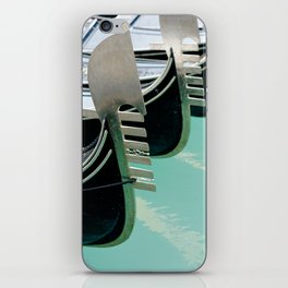 Venetian gondolas, perspective row arrangement, nose front decoration iPhone Skin