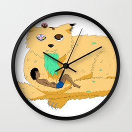 Old Cheeky Cat Wall Clock